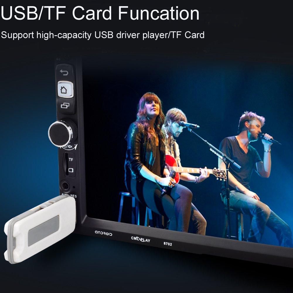 Autoradio Bluetooth Freisprecheinrichtung Autoradio Audio USB//SD//AUX// MP3-Player Receiver mit Fernbedienung schwarz 1 Din PolarLander Autoradio Bluetooth Digital Media-Receiver