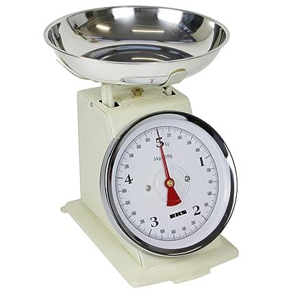 EKS Báscula de cocina retro mecánico 5000 g/20g – Báscula presupuesto de diseño antiguo