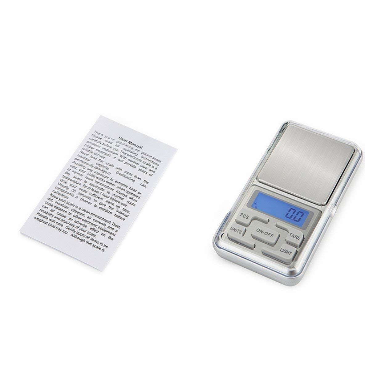 Lorenlli Fit HT-668B 500g x 0.01g Mini balance numérique de précision pour les bijoux en or en argent Sterling Balance Balance Gram Balances électroniques