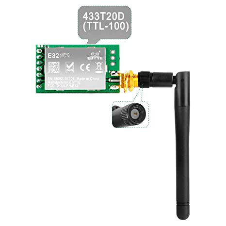 Gowoops SX1278 LoRa Radio Wireless 433Mhz UART Serial Module LoRaWAN  Transmitter Receiver + 433Mhz 3dBi SMA Antenna, Compatible with Arduino  STM32 51