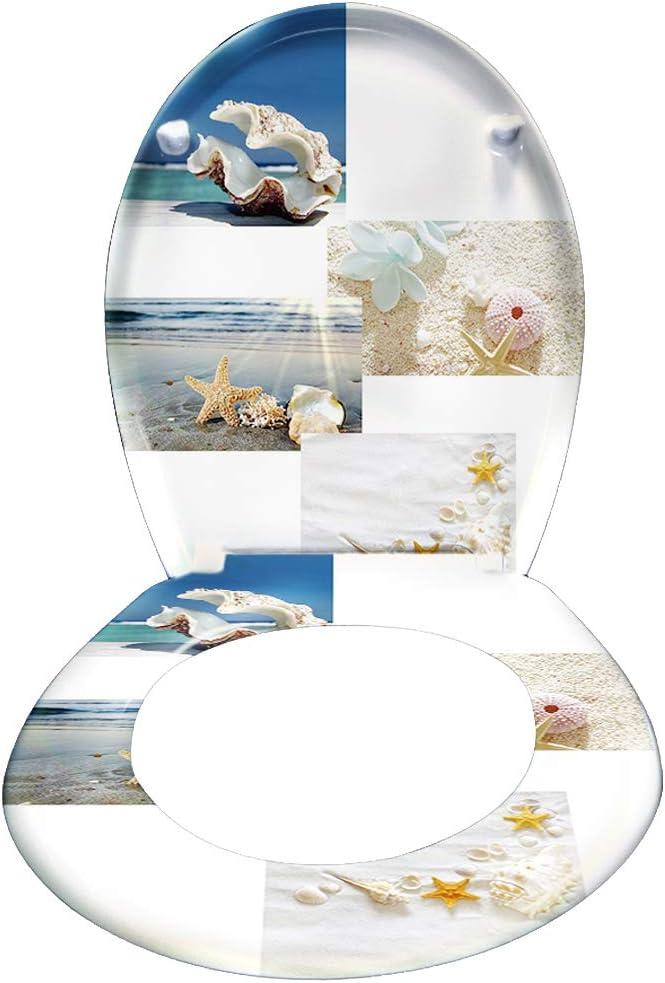 25 Bilder zur Auswahl Universal Gr/ö/ße Toilettensitz aus Hartplastik Antibakteriell Klodeckel aus Duroplast WEIERR WC Sitz Toilettendeckel Absenkautomatik mit Absenkautomatik//Softclose Blau Planks