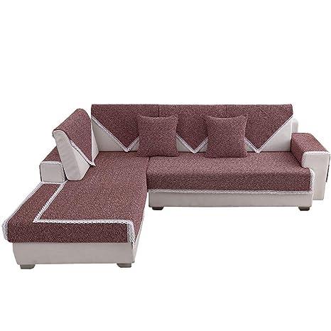 GFF Sofá Funda de sofá Toalla, Funda de sofá de Lino y ...
