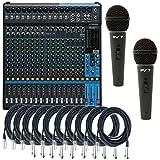 Yamaha MG20XU 20-Input 6 Bus USB Mixer w/ 10 XLR Cables and 2...