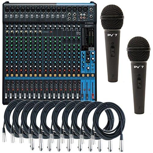 Yamaha MG20XU 20 Input Cables Microphones