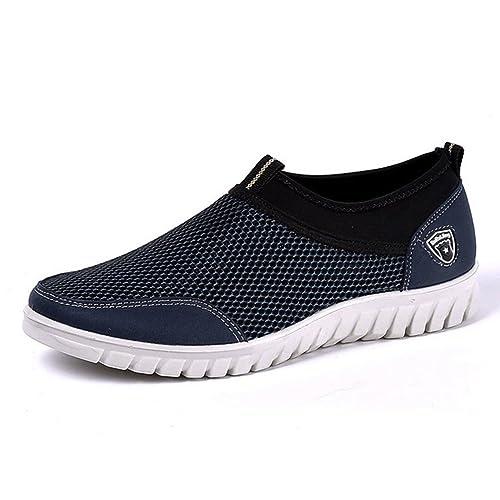 Mens Casual Zapatos Zapatillas Verano Malla Transpirable Hombres CóModos Zapatos Mocasines Calzados Slipon Zapatos: Amazon.es: Zapatos y complementos