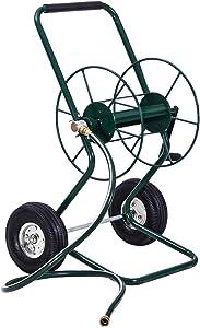 Goplus Garden Hose Reel Cart Water Hose Holder Steel Frame for Planting