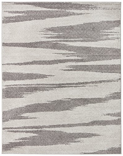 Rivet Modern Zebra Print Rug, 7'6'' x 9'6'', Grey by Rivet