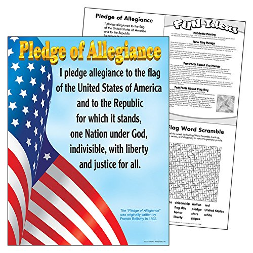 Trend Enterprises Pledge of Allegiance Learning Chart (T-38004)