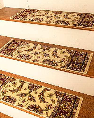 NaturalAreaRugs Sydney Carpet Stair Treads Rug (Set of 13), 9'' x 29'', Cream by NaturalAreaRugs