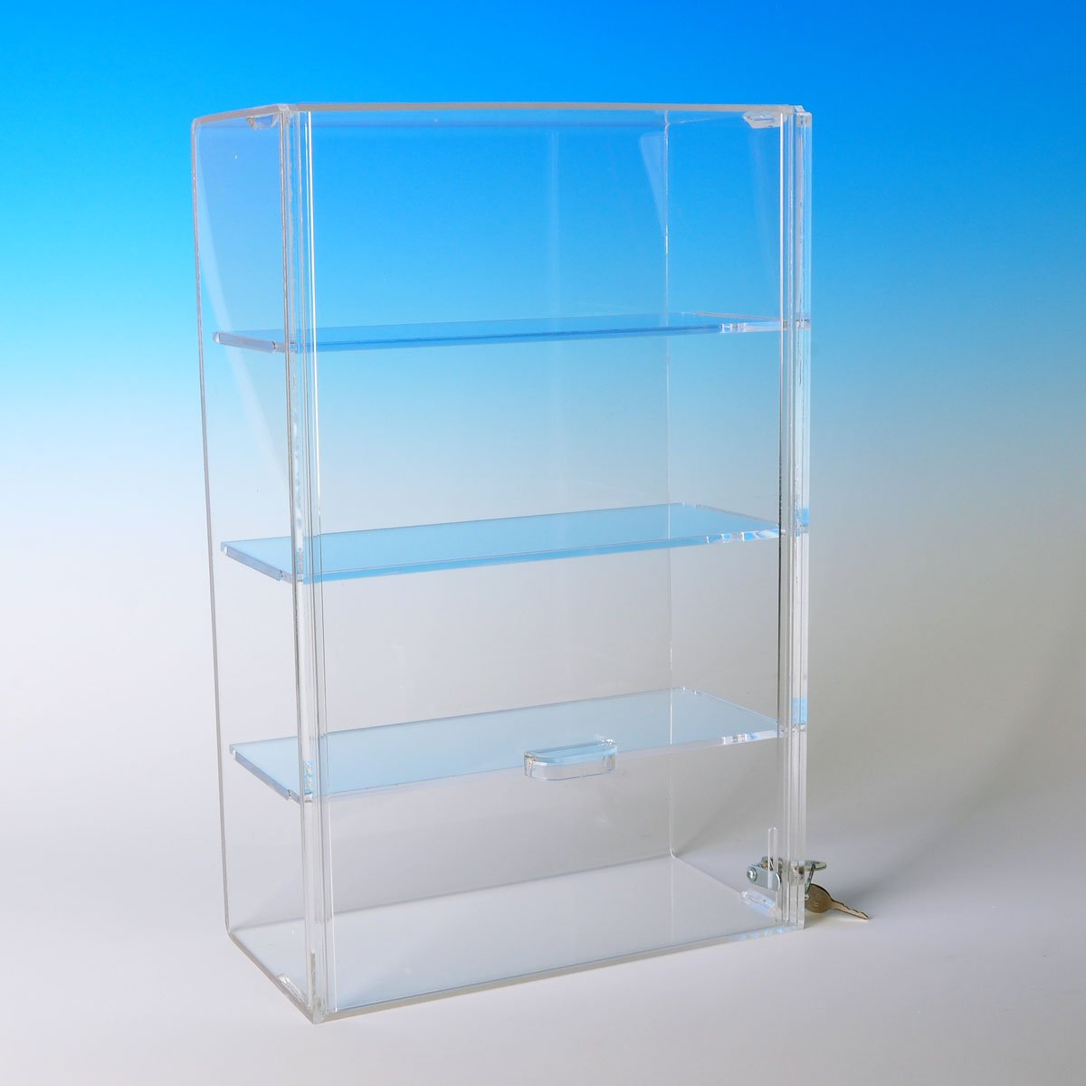 Display Case with Locking Back Door | Acrylic Case (SD153 (w/3 shelves) - 15-3/4H x 10-1/4W x 5-1/4D) by Choice Acrylic Displays