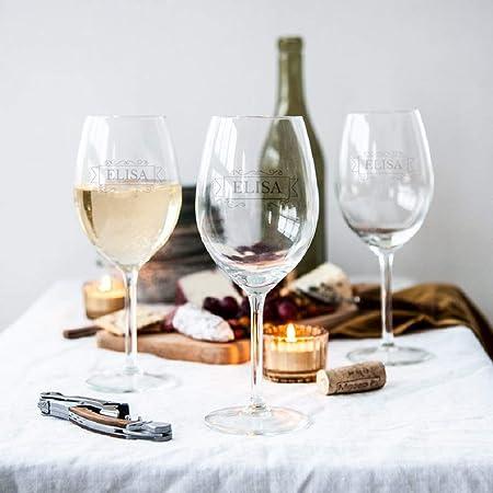 YourSurprise Copa de Vino Blanco Personalizada - Copa de Vino Blanco con Nombre Grabado: Personalizable con Texto, Diseños y Diferentes Tipos de Letras (1)