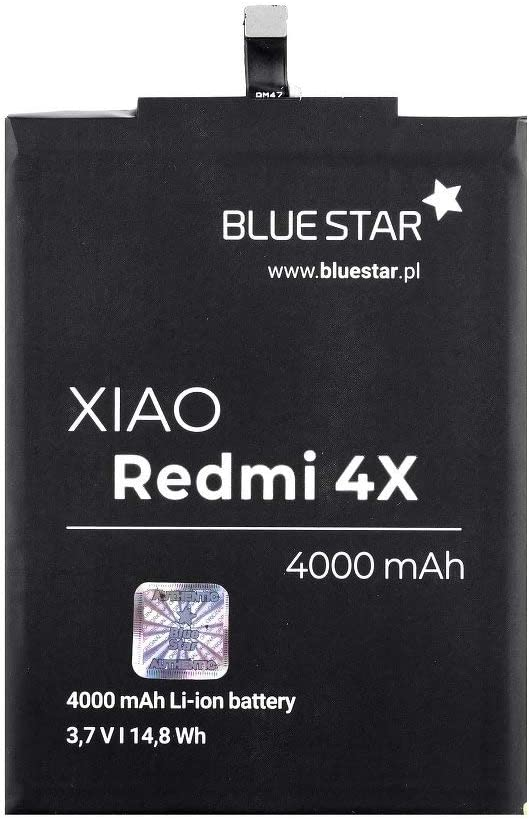 Blue Star Premium - Batería de Li-Ion litio 4000 mAh de Capacidad Carga Rapida 2.0 Compatible con el Xiaomi Redmi 4X