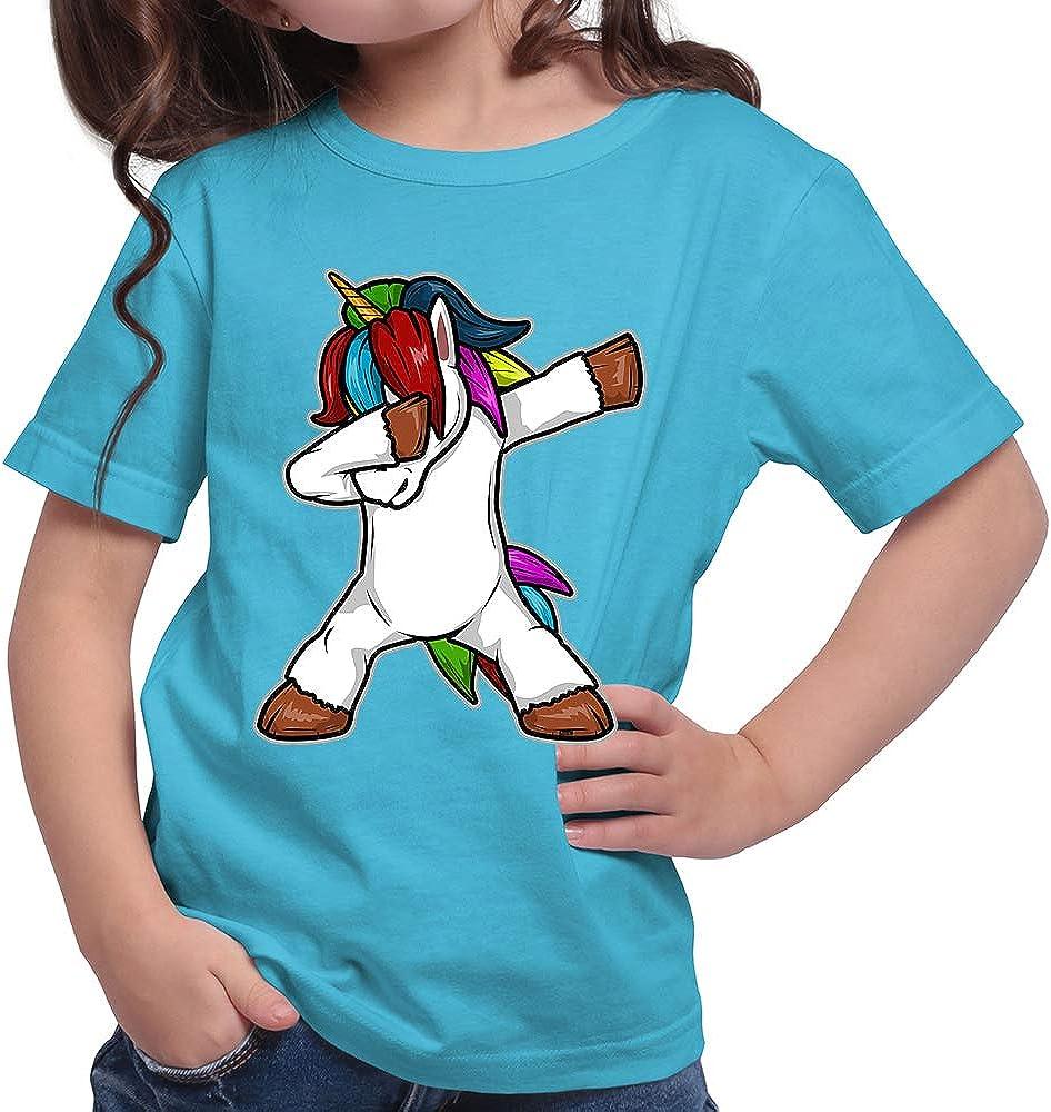 Hariz – Camiseta para niña con diseño de unicornio Dab Dabbing Dance Carnaval Plus y tarjetas de regalo