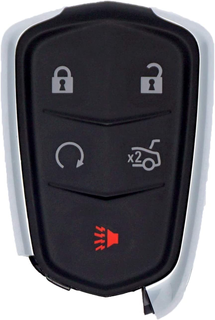 14-16 CTS 16-17 CT6 Remote Key Shell Case Fob 5Button for Cadillac 14-17 ATS