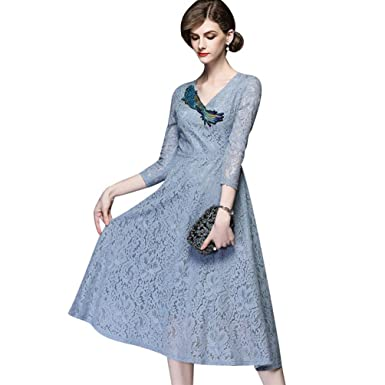 YiLianDaD Womens Formal Long Evening Lace Dresses Ball Gown Prom Dresses for Women
