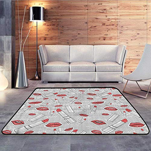 Rugs,Doodle,Lips and Lipsticks RetroW 35
