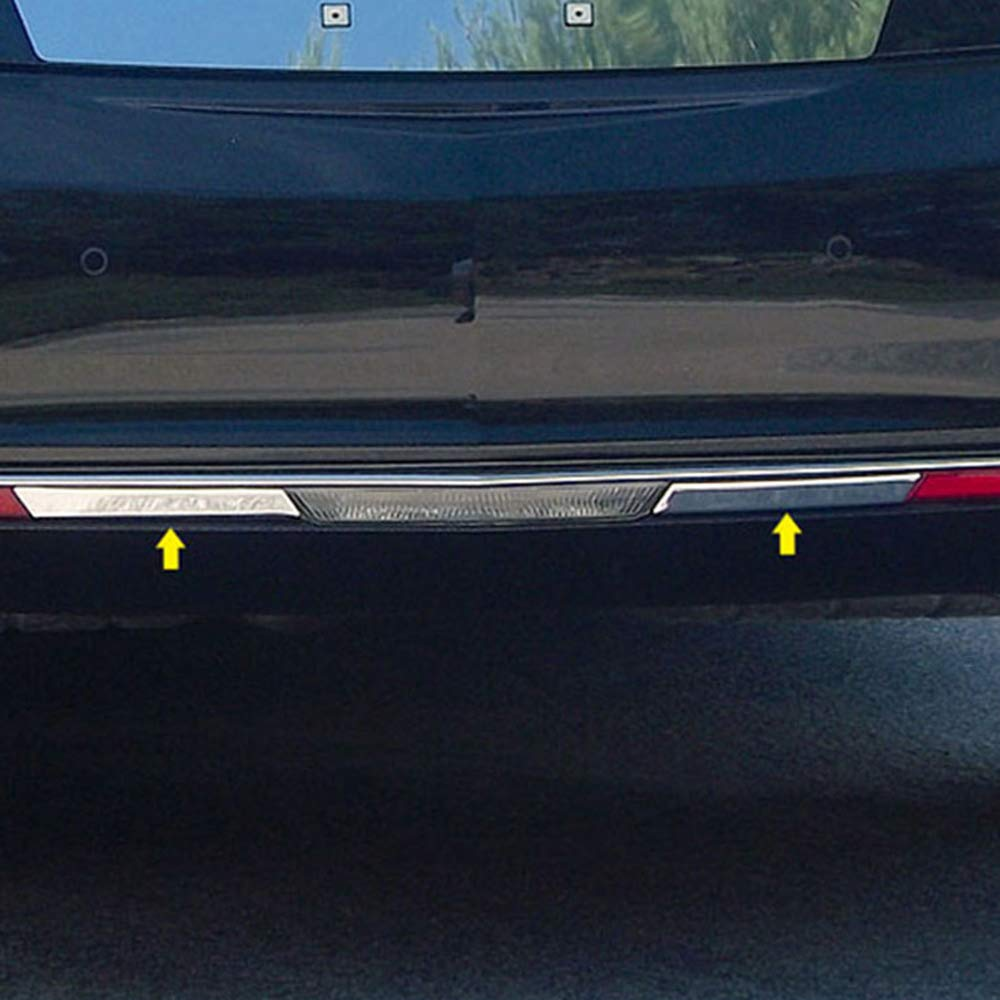 Brighter Design Chrome Rear Marker Light Trim 2pc fit for 13-17 Cadillac Xts Limo//Hearse