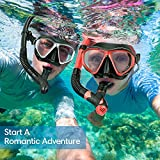 OMORC Snorkel Set for Couples,2 Pack Anti-Fog