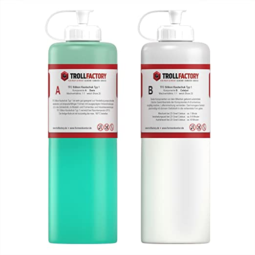 TFC Silikon Kautschuk Typ 1 I Premium Dubliersilikon weich I 500 g (2 x 250 g)