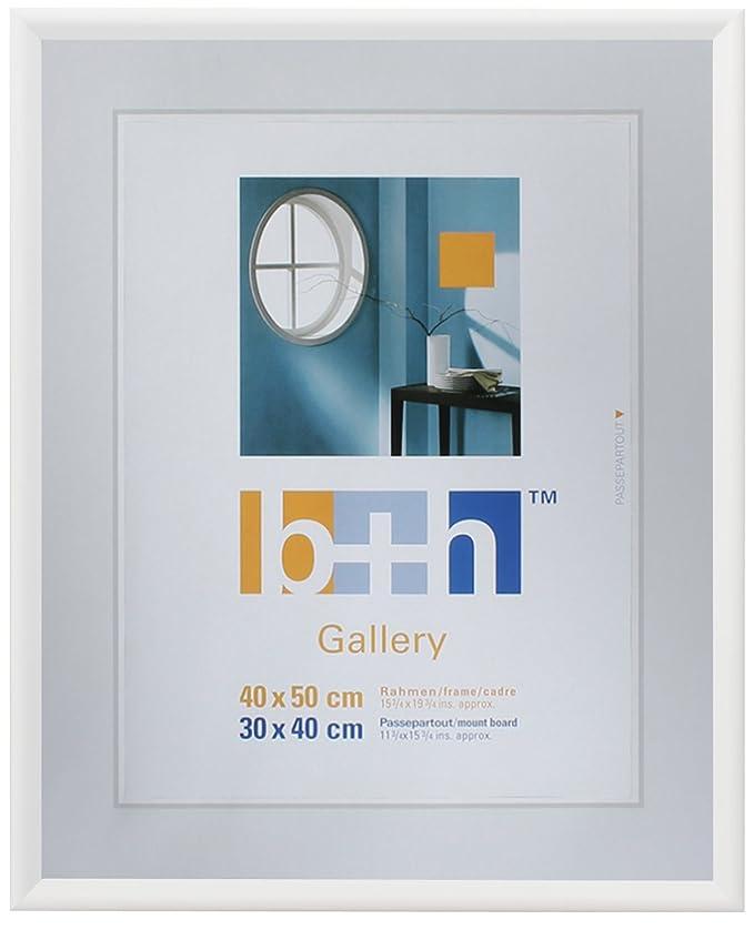 Bilderrahmen 40x50 Kunststoff weiss, Echtglas, Kunststoffrahmen ...