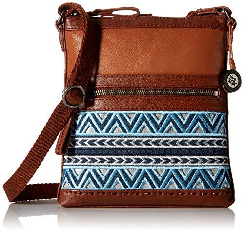 Bag Pack Blue Pax Swing Denim The Sak Embroidery Crossbody nCtqXxRTw