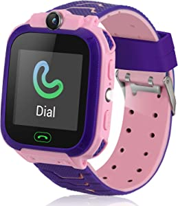 Kids Smart Watch for Boys Girls, Kids Smart Watches with Games SOS Call Camera Touch Screen LBS Tracker Kids Smartwatch, Smart Watches for Kids Compatible with iOS & Android