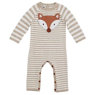 af36d3dee2b1 Amazon.com  Mud Pie Baby Boy Fox Sweater One Piece Playwear