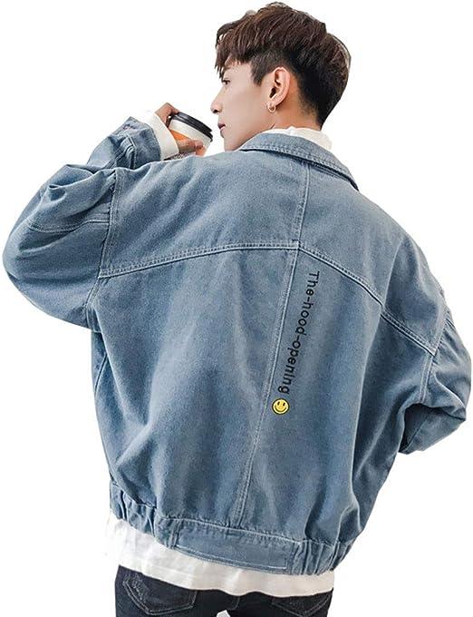 NOQINHOO デニム ジャケット ショート丈 メンズ ジージャン カジュアル 大きいサイズ 通勤 通学 春秋