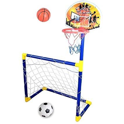 ac9ddd32f9fe3 SSDM 2 dans 1 Panier De Basket-Ball pour Enfants Et But De Football ...
