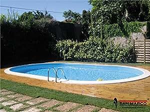 gre m295047 piscina de acero enterrada ovalada