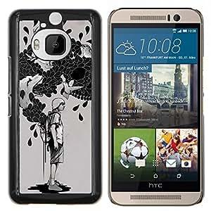Jordan Colourful Shop - Bag Of Tricks For HTC One M9+ / M9 PLUS Personalizado negro cubierta de la caja de pl????stico