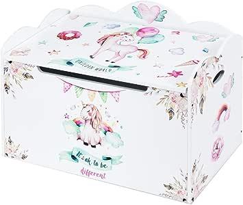 COSTWAY Caja de Almacenaje de Juguetes con Tapa Baúl para Organizador 70,5 x 43 x 45 Centímetros Banco para Niños Dormitorio (Blanco): Amazon.es: Hogar