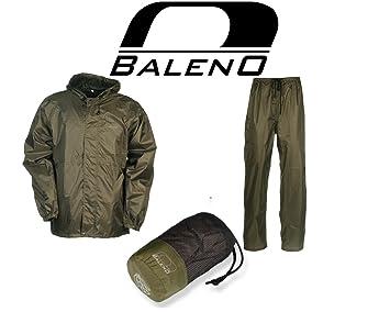 Bekleidung Angelsport Baleno Regenanzug Twister Braun Größe XS