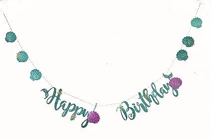 Amazon.com: rainlemon Glitter feliz cumpleaños Banner de la ...
