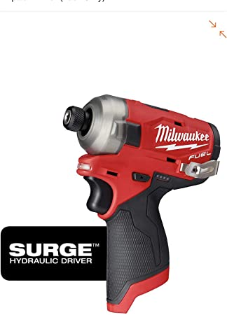 Bare Tool Milwaukee 2553-20 12-Volt 1//4-Inch M12 FUEL Hex Impact Driver