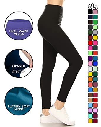 b0960dabb1bd Leggings Depot High Waisted Leggings -Soft   Slim - 37+ Colors   1000+  Prints at Amazon Women s Clothing store