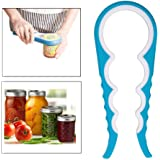 Jar can opener Xjoyous Premium Quality Opener Get Lids Off Easily Jar Openers for Seniors Multiple Size Grip (blue)