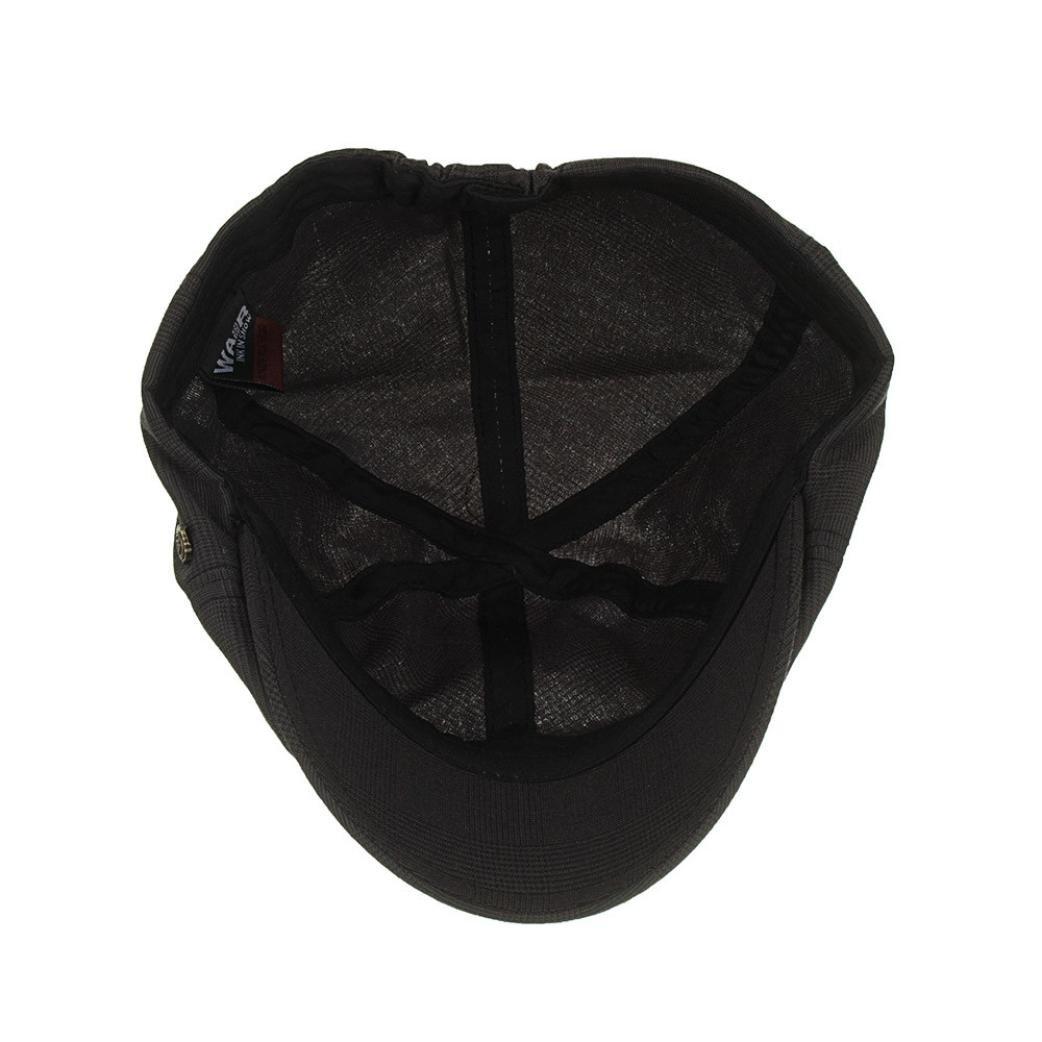 217ce0796b5 Amazon.com   Nacome Unisex Newsboy Flat Cap Gatsby Caps Fashion British  Style Peaked Cap Baseball Hat for Women Men (Black)   Sports   Outdoors