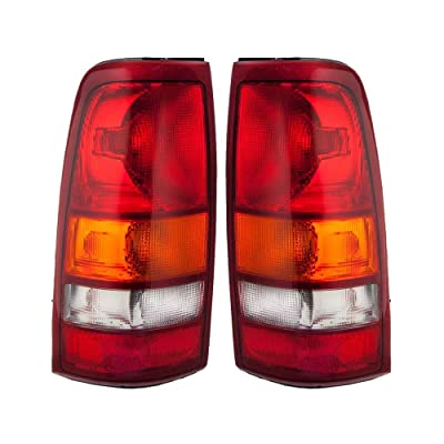 Epic Lighting OE Fitment Replacement Rear Brake Tail Lights for 1999-2003 Chevrolet GMC Silverado (Classic) Sierra [GM2800173 GM2801173 15198453 19169017 15198460 19169018] Left & Right Sides Pair: Automotive