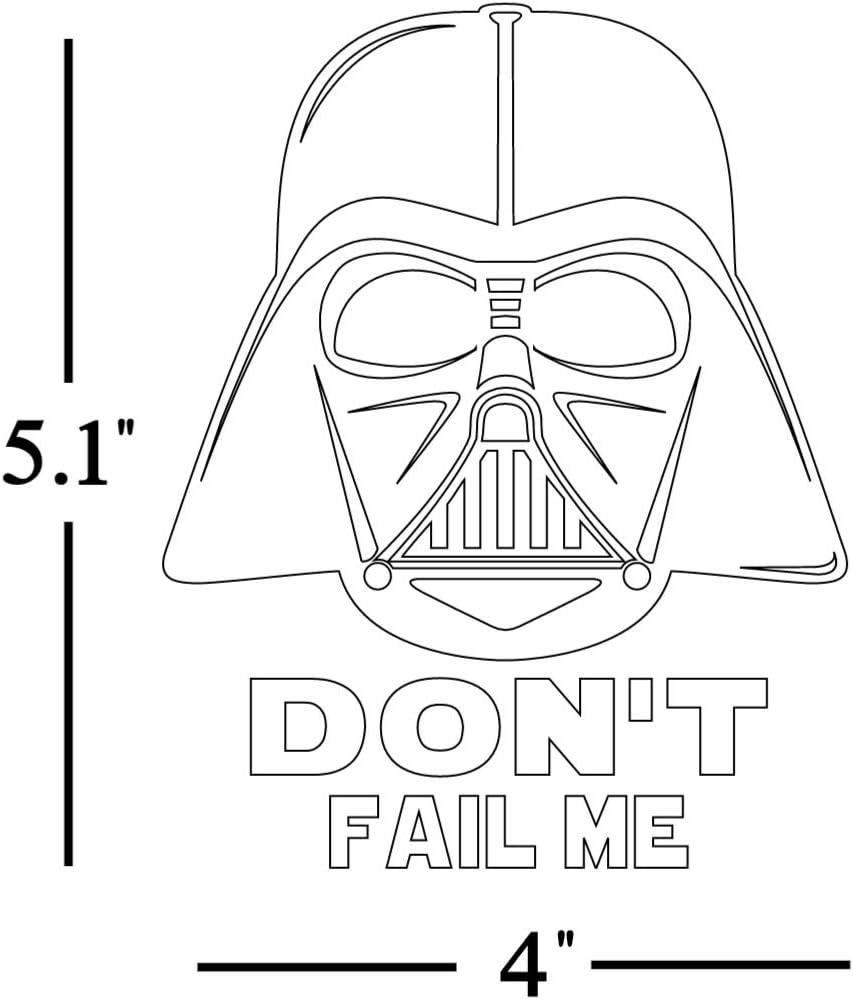 Star Wars Darth-Failed Me Sticker