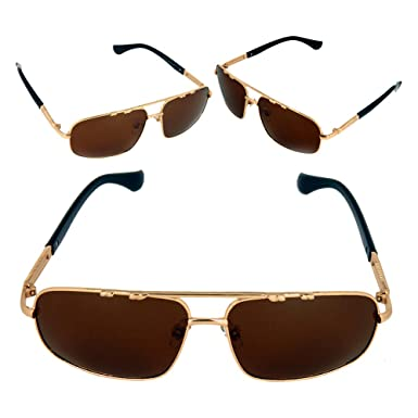 75be117fc2c6b Zorn Lifestyle Polarized Unisex Golden Square Brown Sunglass  Amazon.in   Clothing   Accessories