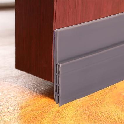 Petift Under Door Sweep Weather Door draft stopper Pest proof door Noise stopper u0026 soundproofing door & Amazon.com: Petift Under Door Sweep Weather Door draft stopper Pest ...