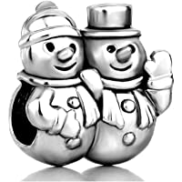 Christmas Gifts Snowman Winter Charm New Sale Cheap Beads Fit Pandora Charms Bracelets