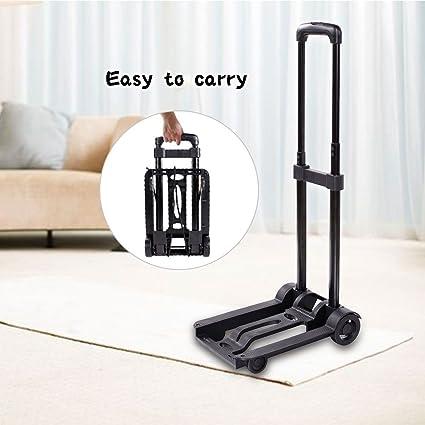 COOCHEER carretilla plegable (carga máxima 70 kg/155 lbs carro de equipaje plegable (