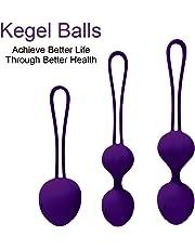 Newkeen Boules de Geisha Dispositif de contrôle de la vessie et formation des muscles du plancher pelvien premium en Silicone Médical ensemble balls pour femme Kegel exerciser (Violet)