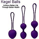 Newkeen Kegel Balls (Palline Vaginali) in Silicone Rinforzamento dei Muscoli Vaginali, Esercizi del Pavimento Pelvico Kit Bladder Control e Incontinenza Dispositivo per Donne (Porpora)