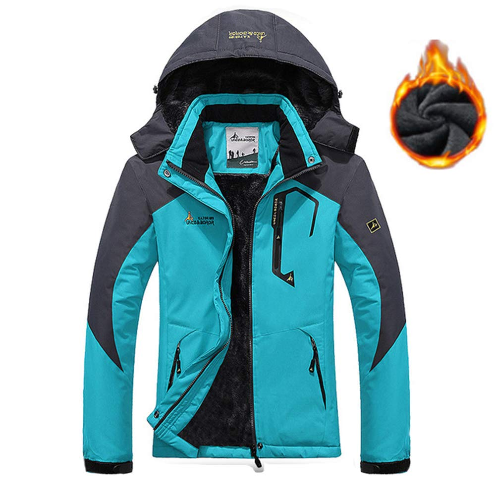 RSTJ-Sjcw Herren Ski Jacket 3 in 1 wasserdichter Winterjacke Schneemaket Windproof Hooded mit Innenwarme Fleece Coat