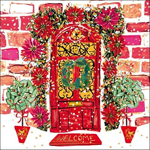 Pack of 5 Christmas Wreath Princes Trust Charity Christmas Cards Card Packs: Amazon.es: Oficina y papelería
