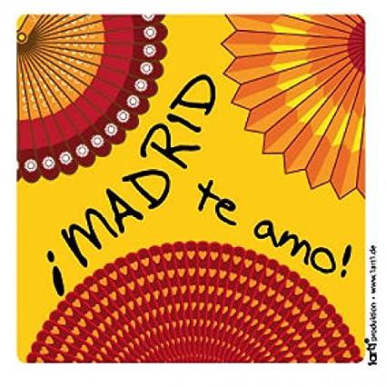 Amazon.com: 1art1 Madrid Sticker Adhesive Decal - Te Amo (4 ...