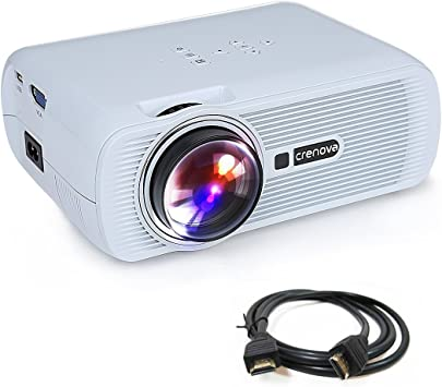 Proyector, Crenova XPE460 Mini Proyector LED con HDMI USB SD ...
